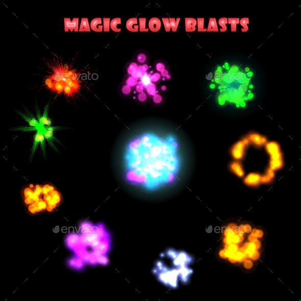 Magic Glow Blast - Sprites Game Assets