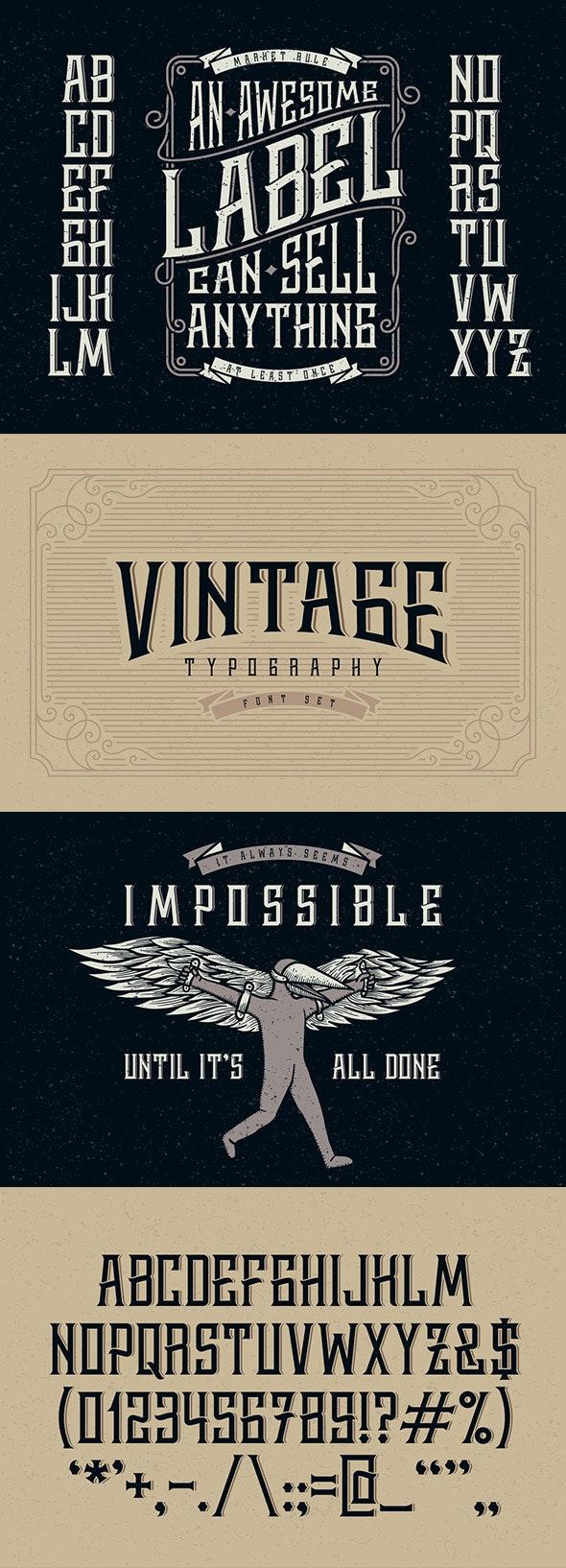 Whiskey label font - Decorative Fonts