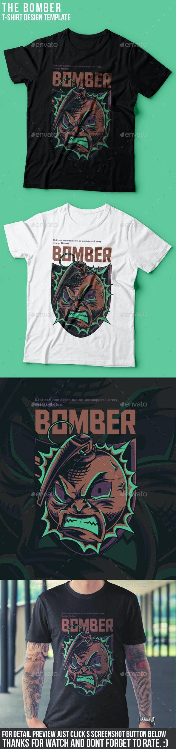 The Bomber T-Shirt Design - Sports & Teams T-Shirts