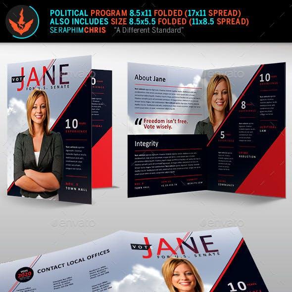 Jane Political Brochure Template 2