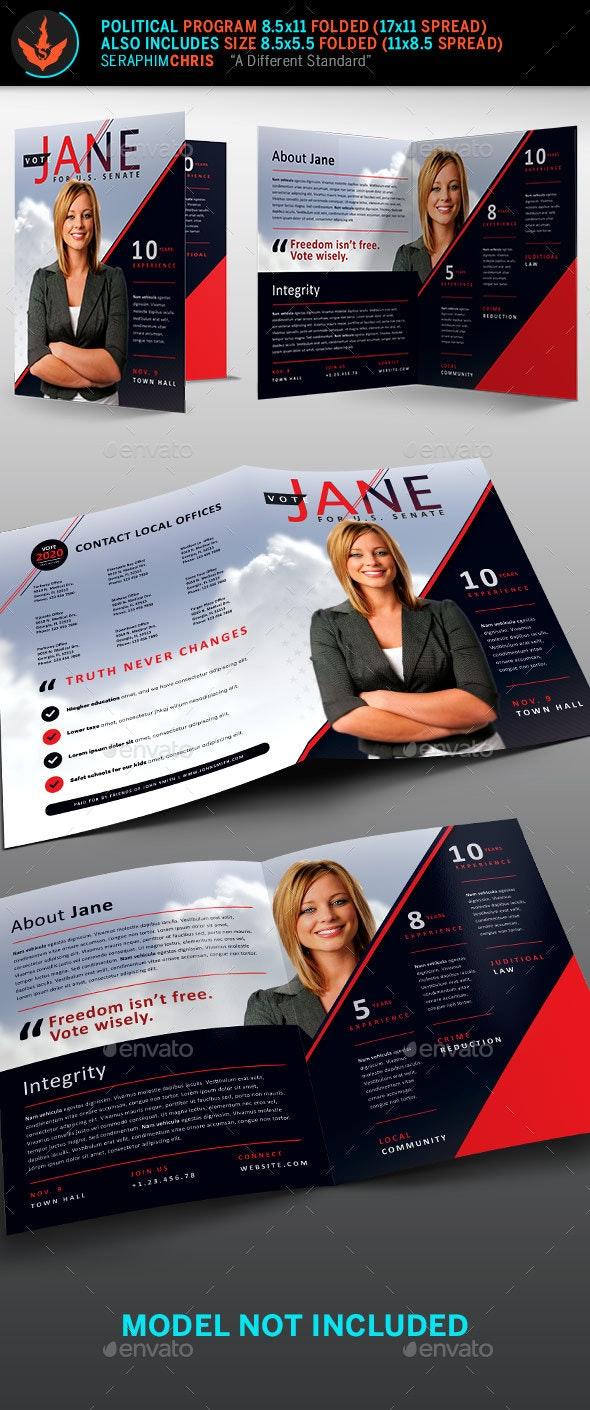 Jane Political Brochure Template 2 - Corporate Brochures