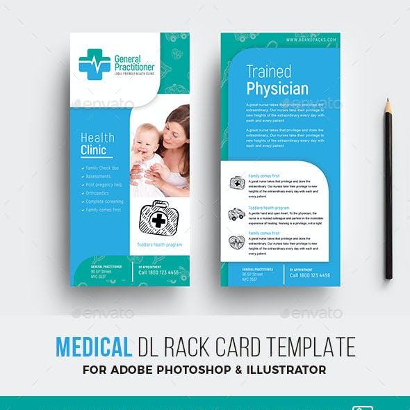 Medical DL Rack Card Template