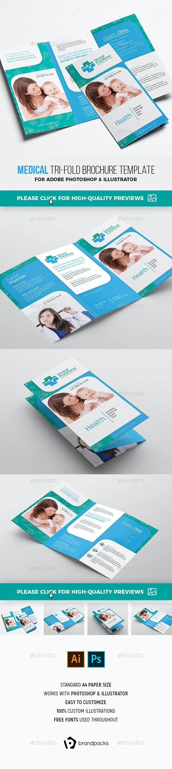 Medical Tri-fold Brochure Template - Corporate Brochures