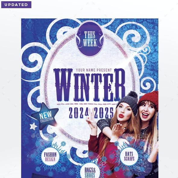 Winter Collection Flyer Template