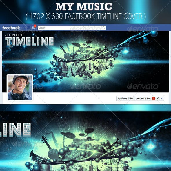 My Music Facebook Timeline Cover Template