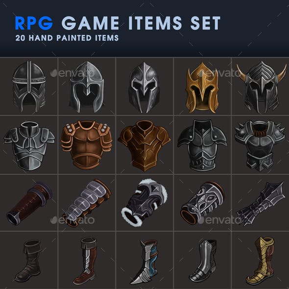 RPG Game Icons Set