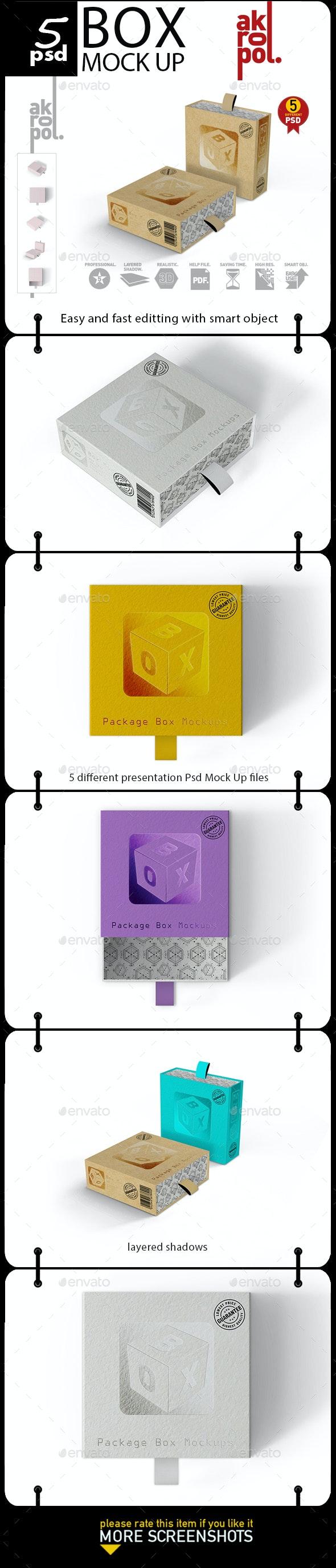 Package Box Mockups - Product Mock-Ups Graphics