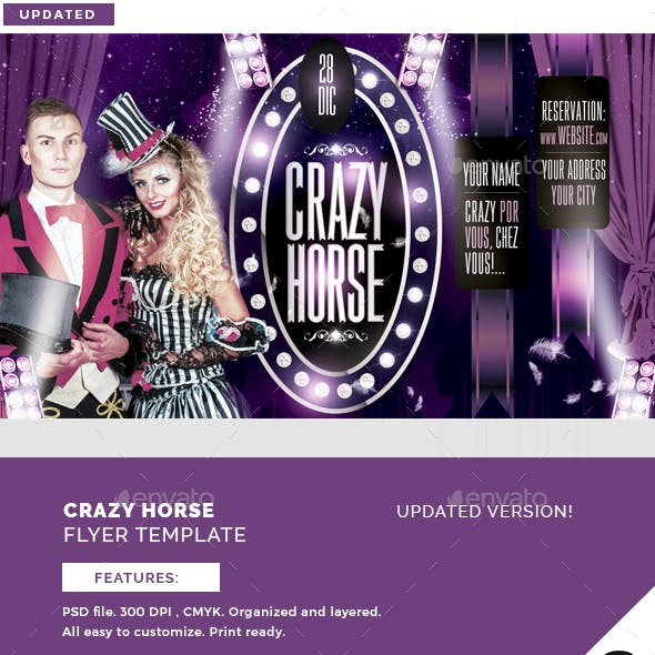 Crazy Horse Flyer Template