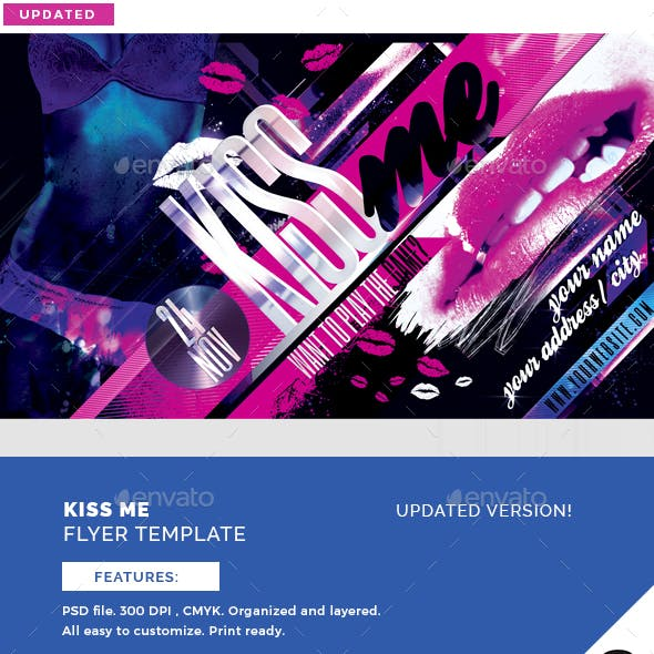 Kiss Me Flyer Template