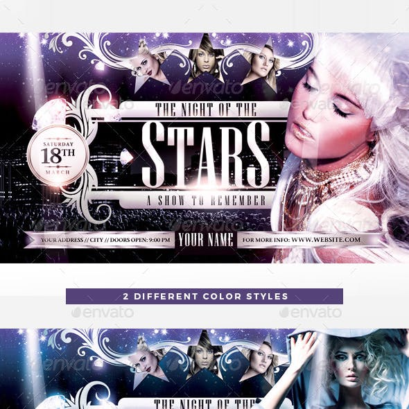 The Night Of The Star Flyer Template