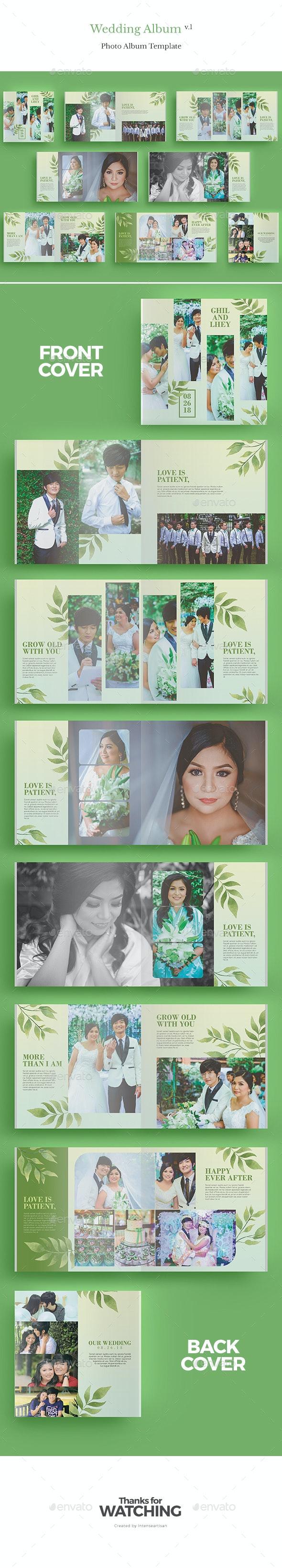 Square Wedding Album V.1 - Photo Albums Print Templates