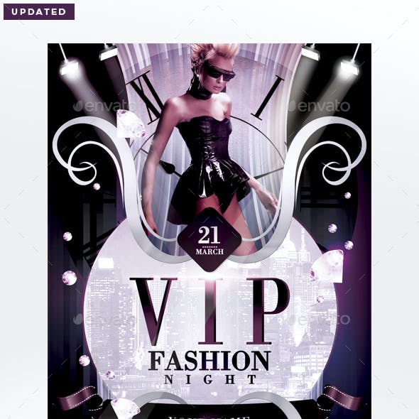 Vip Fashion Night Flyer Template