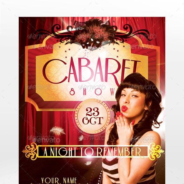Cabaret Show Flyer Template