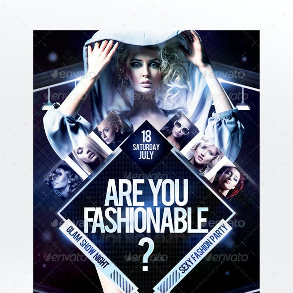 Are You Fashionable? Flyer Template