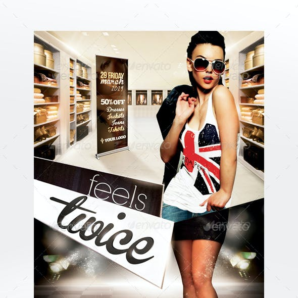 Feels Twice Flyer Template