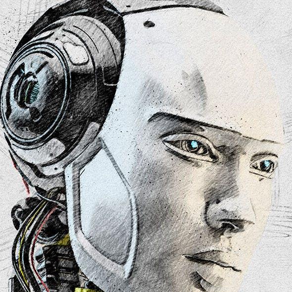 Artistic Pencil Sketch Photoshop Action