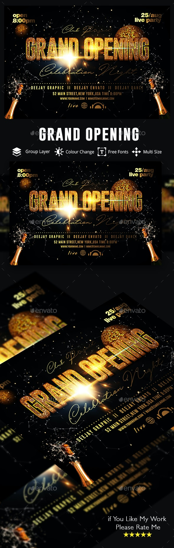 Grand Opening - Events Flyers