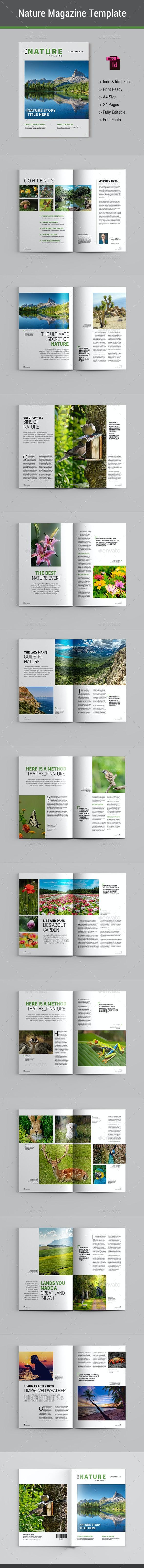 Nature Magazine - Magazines Print Templates