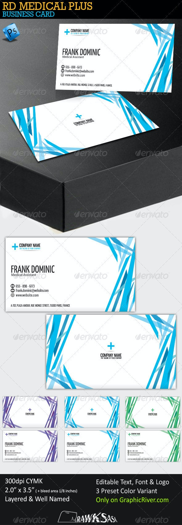 RD Medical Plus Business Card - Industry Specific Business Cards