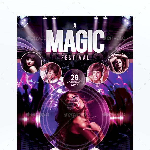 A Magic Festival Flyer Template