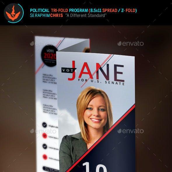 Jane Political Tri-Fold Brochure Template 2