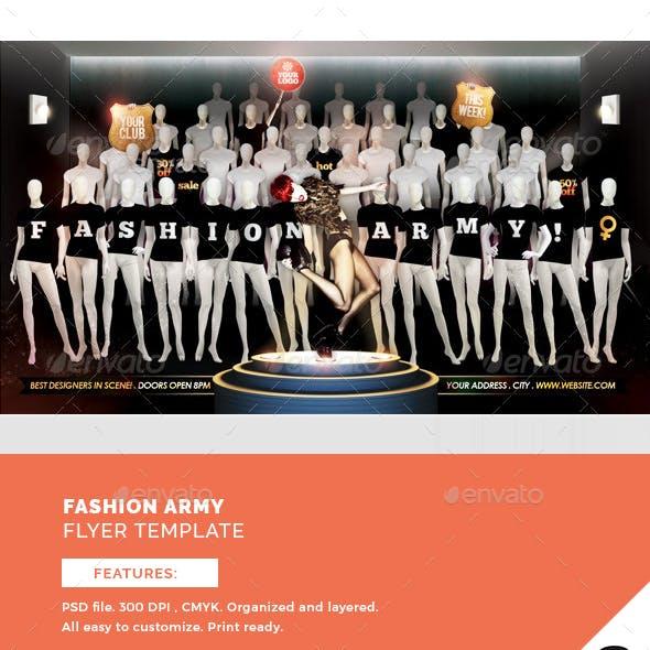 Fashion Army Flyer Template