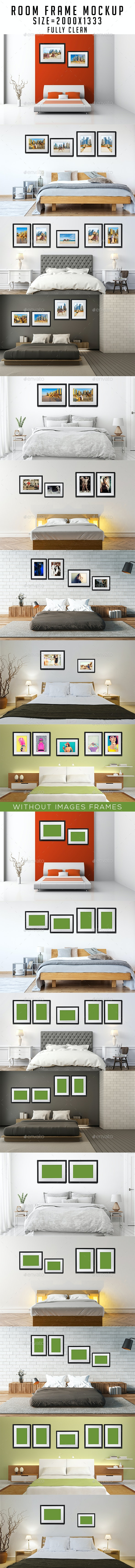 Room Frame Mockup - Print Product Mock-Ups