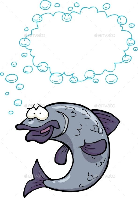 Cartoon Fish Bubbles - Animals Characters