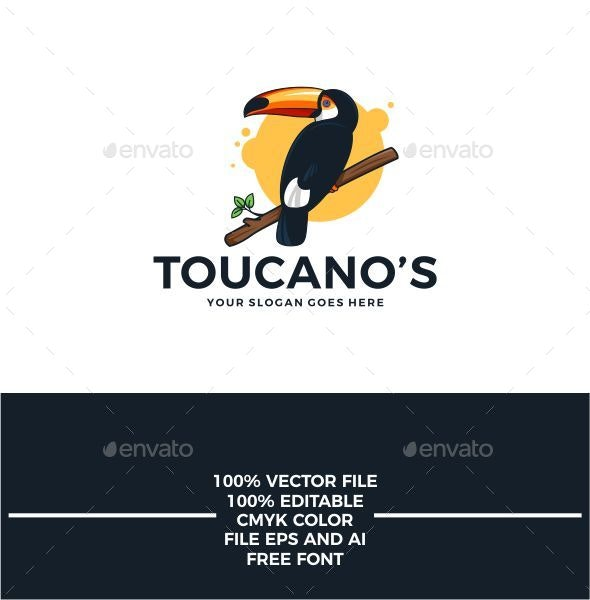 Toucano Logo Bird - Animals Logo Templates
