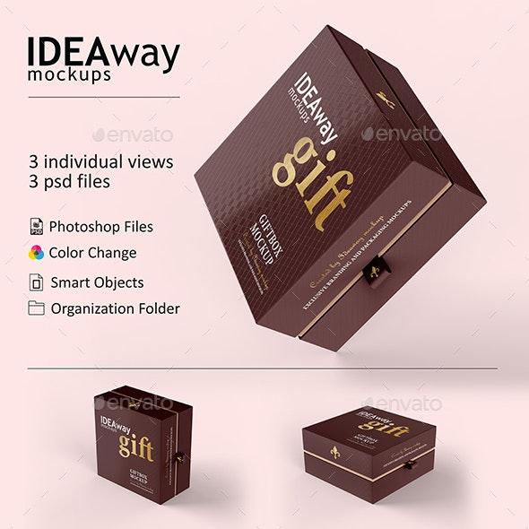 Giftbox Set Mockup - Packaging Product Mock-Ups