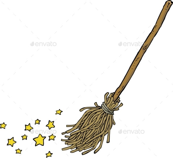 Cartoon Magic Broom - Miscellaneous Vectors