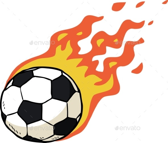 Fire Soccer Ball - Man-made Objects Objects