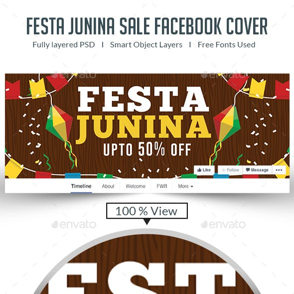 Festa Junina Facebook Cover