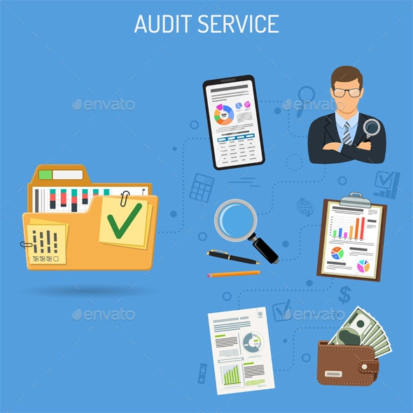 Auditing and Accounting Banner - Services Commercial / Shopping