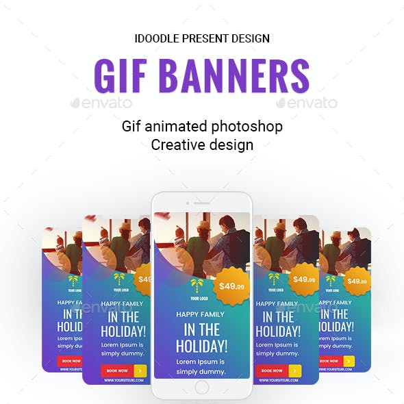 Animated GIF - Travel Banners Ads