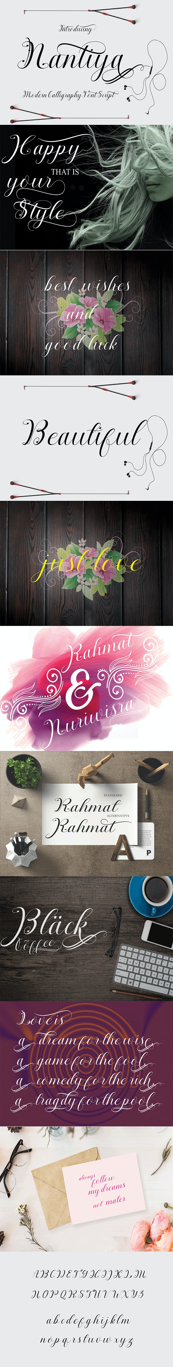 Nantiya - Script Fonts