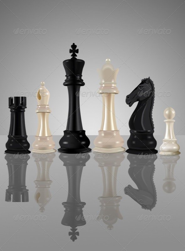 Chess Pieces - Man-made Objects Objects