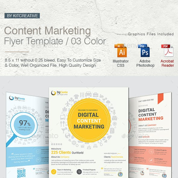 Content Marketing Flyer