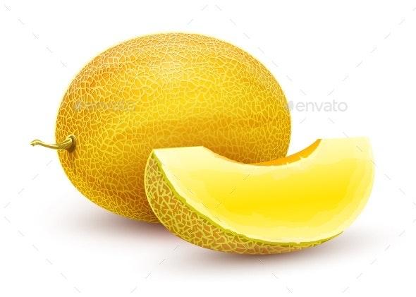 Honeydew Melon Whole Fresh Ripe Sweet Fruit - Food Objects