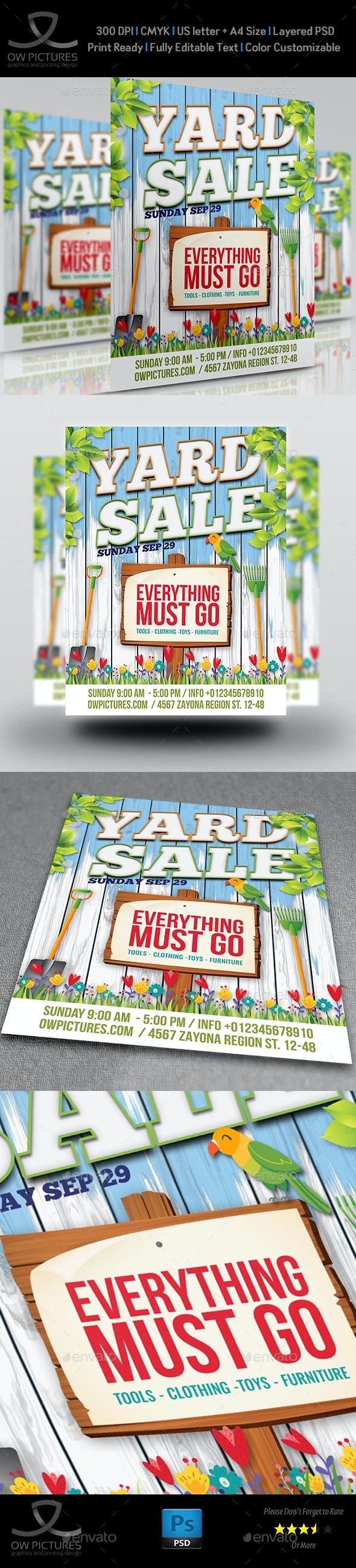 Yard Sale - Garage Sales Flyer Template - Flyers Print Templates