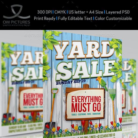 Yard Sale - Garage Sales Flyer Template