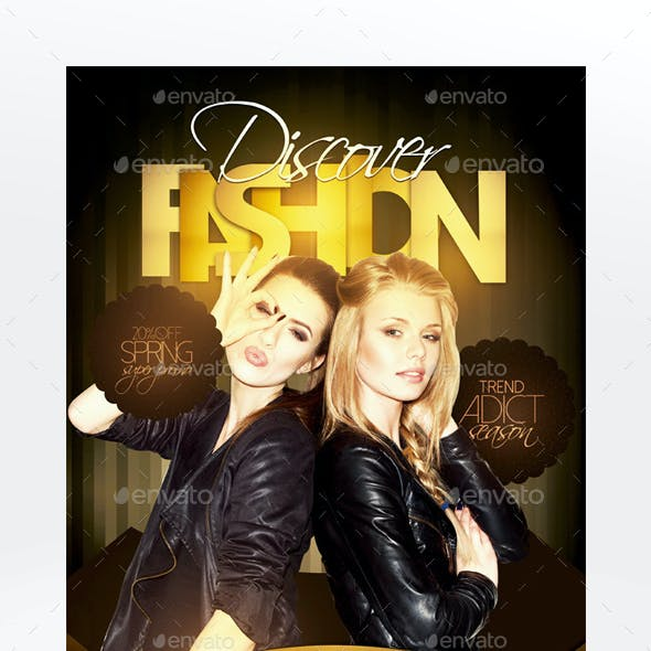 Fashion Catalog Flyer Template - Front & Back