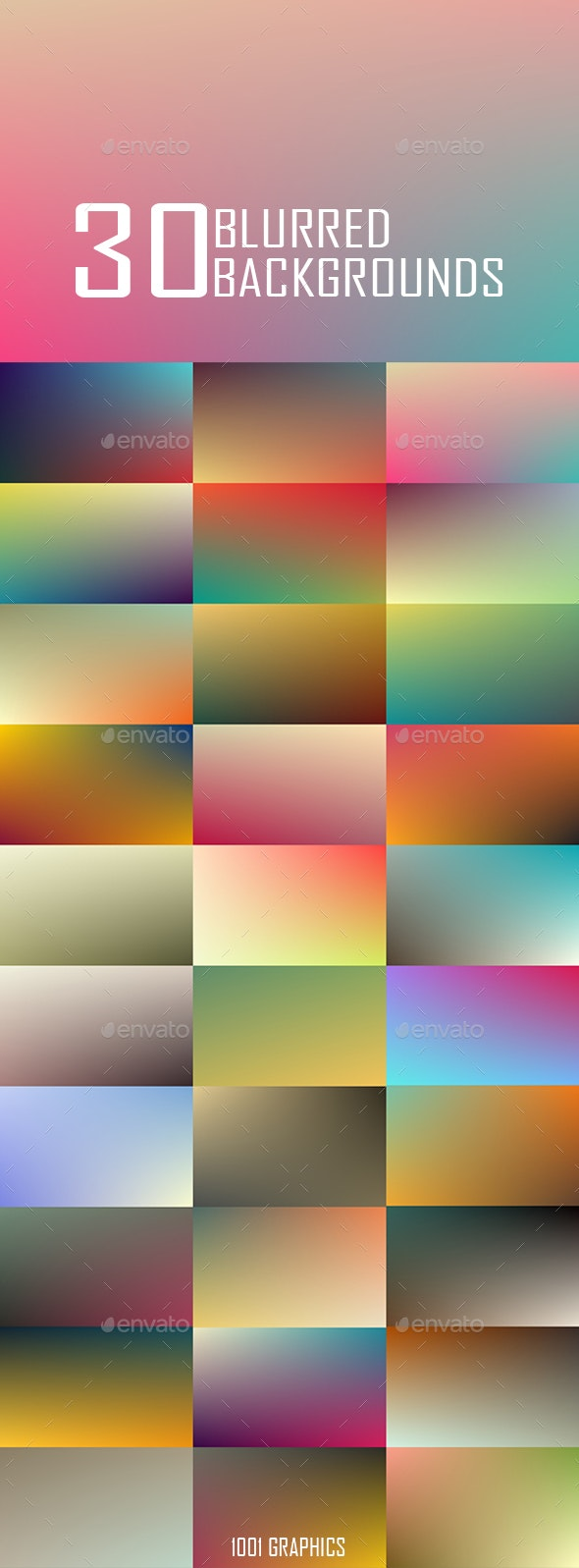 30 Blurred Backgrounds JPG High Res - Backgrounds Graphics