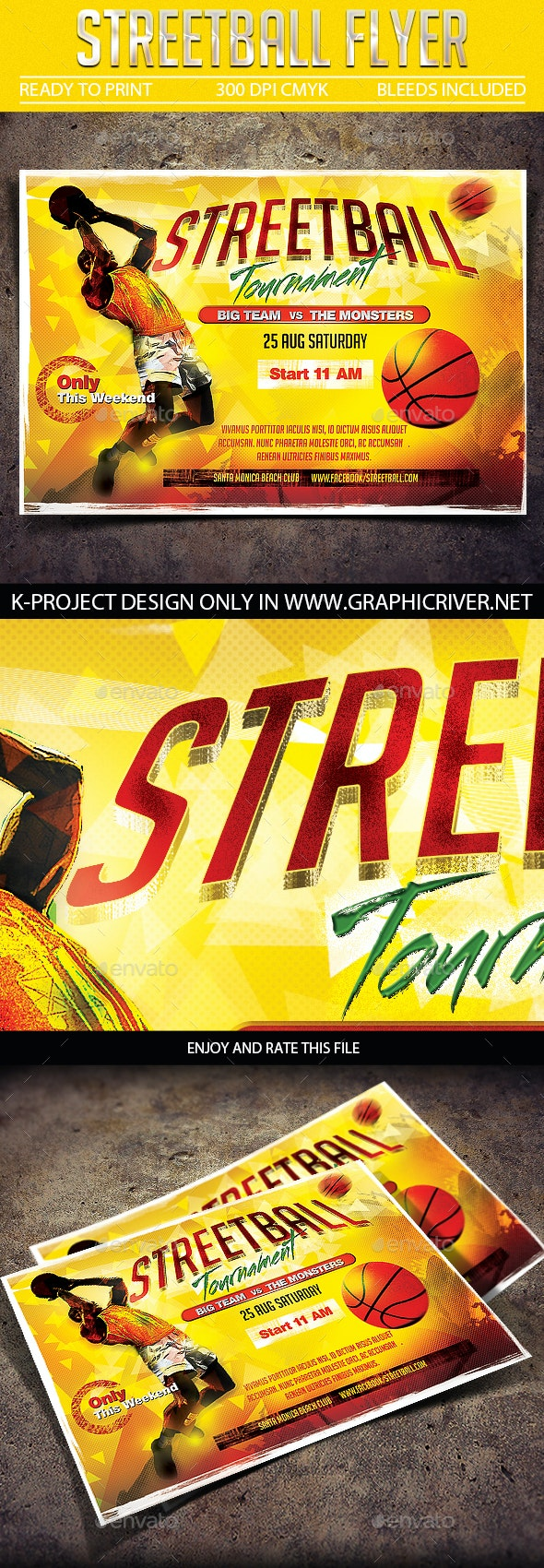 Streetball Flyer - Sports Events