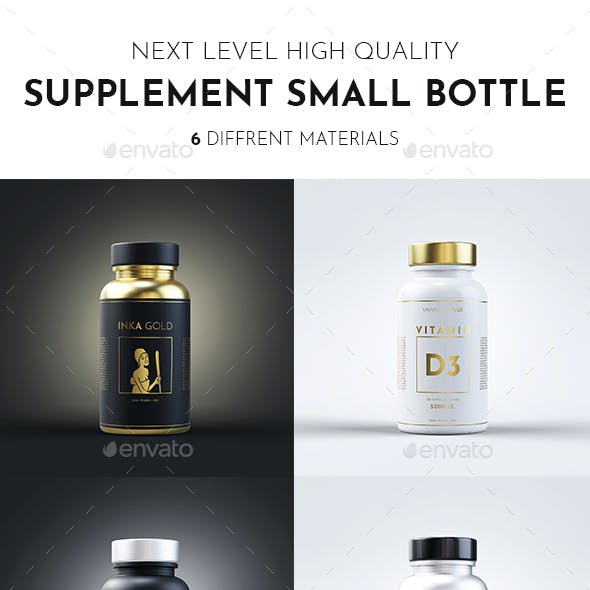 Supplement Bottle Mock up