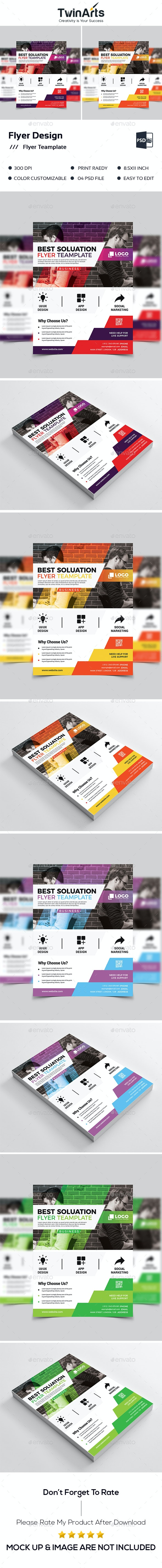 Flyer Teamplate. - Flyers Print Templates