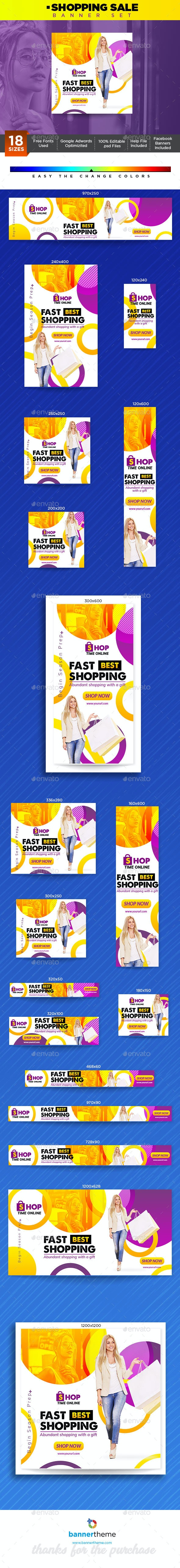 Shopping Banner - Banners & Ads Web Elements
