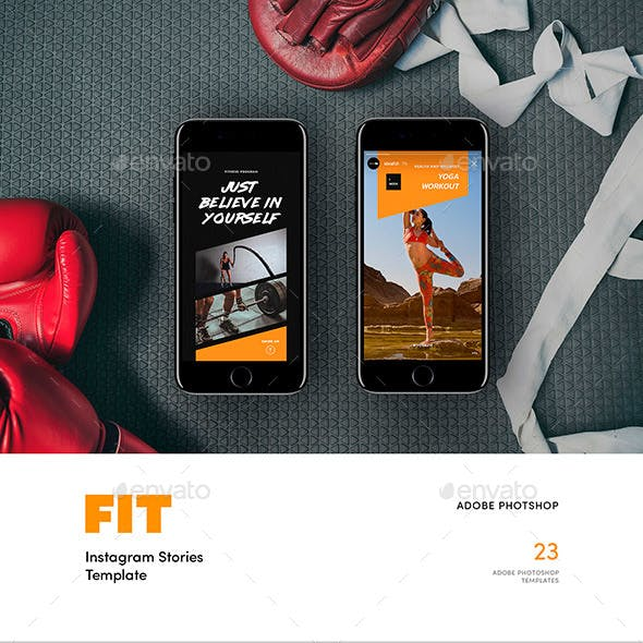 FIT — Instagram Story Templates