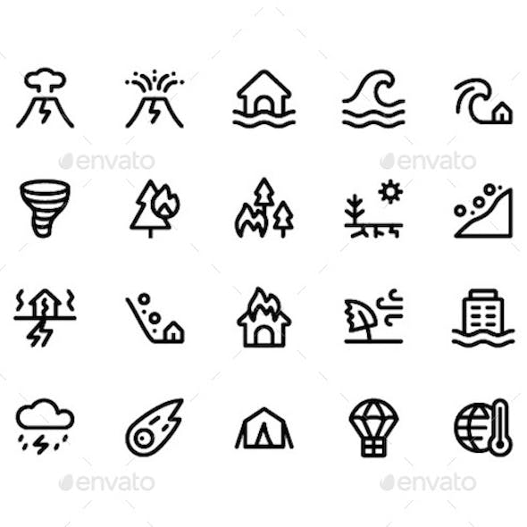 Disaster Line Icons