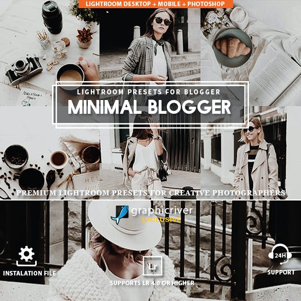 Blogger Minimal Lightroom Presets
